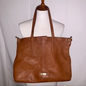 Lucky Brand Large Brown Leather Tote Bag